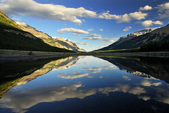 Super Symmetry (Surreal McCoy (Alvin Brown)) Tags: lake canada mountains reflection clouds mirror alberta banff superaplus aplusphoto