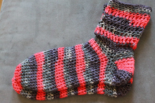 Simple crochet socks