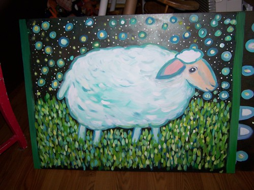 sheep under the stars by Emilyannamarie