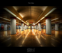 The Tube (HDR) (farbspiel) Tags: station photoshop underground subway geotagged nikon hungary budapest tube wideangle handheld dri hun hdr watermark hdri topaz adjust superwideangle infocus 10mm postprocessing ultrawideangle photomatix tonemapped tonemapping denoise watermarking d7000 sigma1020mmf35exdchsm geo:lat=4750543925 geo:lon=1904698312