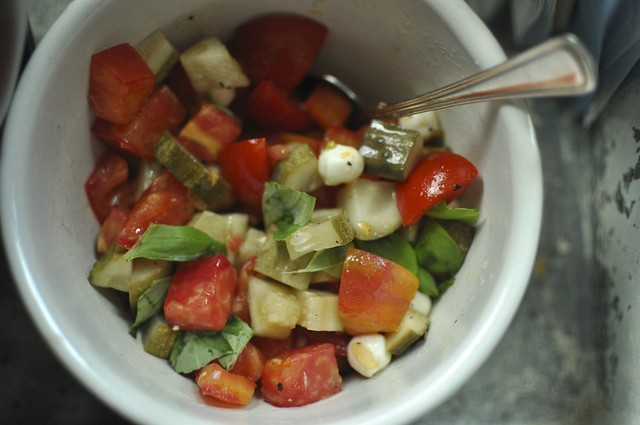 tomato dill pickle salad