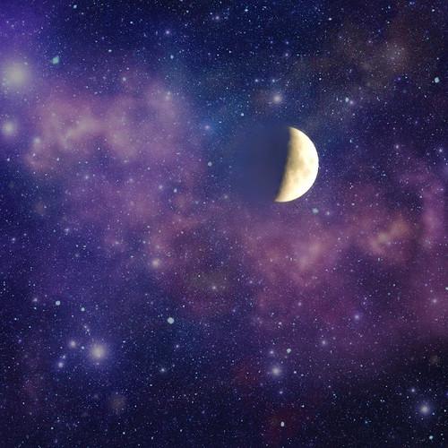 フリー写真素材, 自然・風景, 月, 空, 夜空,