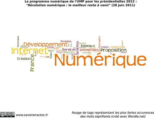 Programme numérique UMP Présidentielles 2012 - Analyse texte intégral