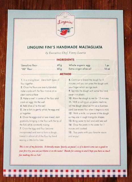 Linguini Fini Matagliata Recipe