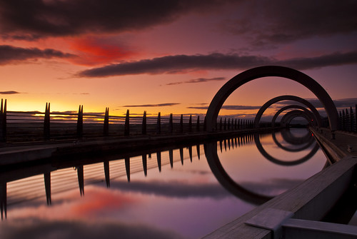 Falkirk Wheel at Sunset by Graeme Forrest