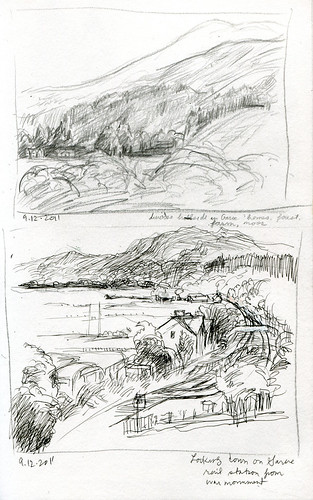 Garve catching the train, thumbnail sketches