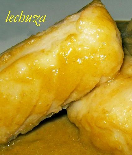 Bacalao en salsa de pimientos verdes-detalle