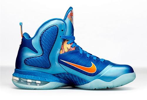 NIKE LEBRON 9 CHINA EDITION BLUE FLAME COLORWAY
