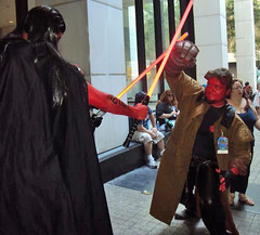 Hellboy versus Sith (KrystalClaxton) Tags: costume cosplay convention hellboy dragoncon bprddragoncon