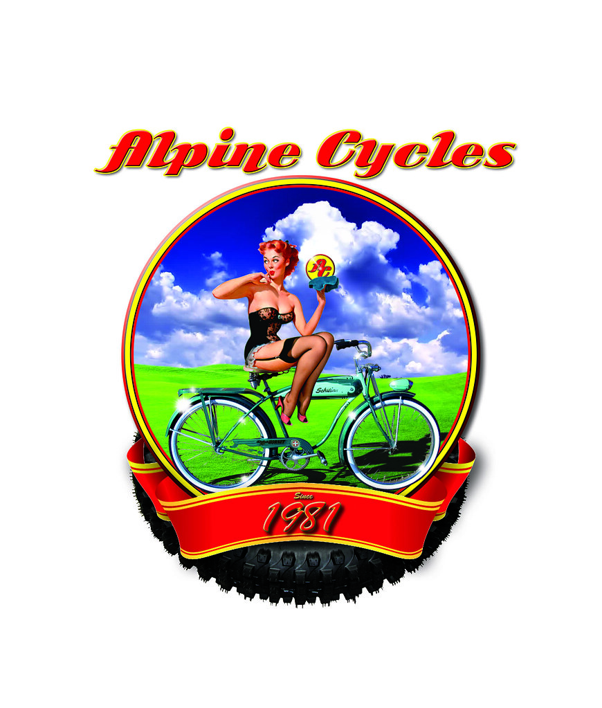 Alpine Cycles t-shirt design