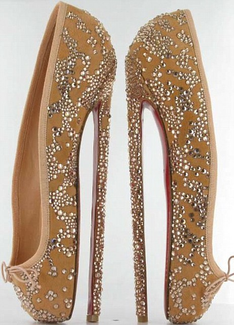 Eat your heart out Victoria Beckham! Presenting the eight-inch pair of Louboutins...  1