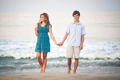 (Danielle Pearce) Tags: ocean blue white love beach water canon holding hands couple mark young ii 5d holdinghands vignette