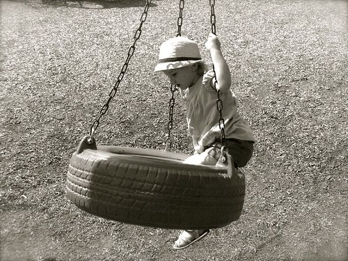 First tire swing ever!