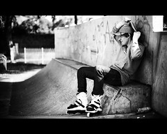 Roll-Glasgow - Relaxing (abbernaffy) Tags: park lighting our white black sport alan contrast canon concrete photography eos 50mm do natural bright glasgow 14 skating relaxing deep documentary scottish scene monotone images highlights we skatepark ii what conference 5d series inline rollerblading behind robbie scenes ef rolling skates rollerblades mk src rollerskating drummond calvert hobbie shaddows xsjado soughton