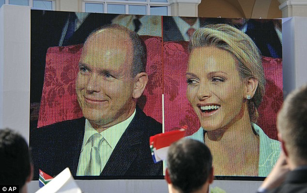Monaco bathed in fireworks for wedding of Prince Albert and his 'runaway bride'..   10