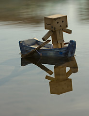 Danbo ship-shape and Bristol fashion (.OhSoBoHo) Tags: sea reflection cute love water canon pose toy robot boat ship legs small kawaii sail wee pearl nautical blackrock irishsea kingoftheworld danbo sealegs canoneos40d shipshapeandbristolfashion danboard marthasharbour  danboru amazoncardboardrobot danboboat sailordanbo danbothesailorrobot captaindanbo