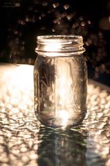 36/365 - Light (aithom2) Tags: light summer reflection glass golden evening bokeh mason depthoffield hour jar 365
