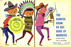 Cowboys & Indians (Wires In The Walls) Tags: illustration 1960 titlepage romperroom dobee artseiden wonderbook nancyclaster bookofmanners