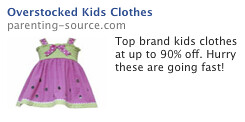 overstocked kids clothes ad