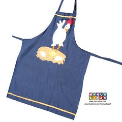 Apron / Delantal (Manualitas) Tags: chicken handmade craft apron patchwork artesania gallina delantal manualidad davantal