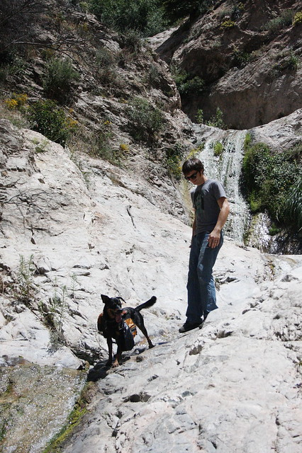 sam and rita on the waterfall