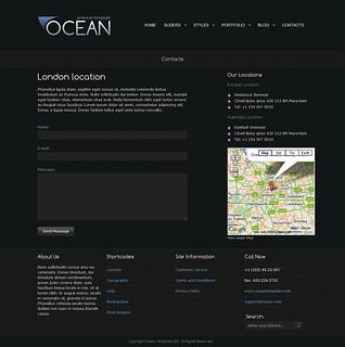 OCEAN Premium Template — Contact