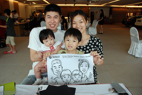 Caricature live sketching for Sime Darby Select Open House Day 1 - 7b