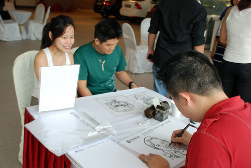 Caricature live sketching for Sime Darby Select Open House Day 1 - o