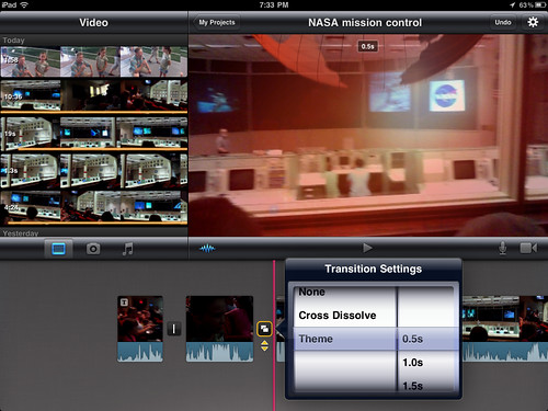 13 (iMovie for iPad) Select Transition Settings