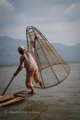 Inle fishing (Sandro_Lacarbona) Tags: voyage trip travel boy lake fish boat fishing child burma lac myanmar inle bateau backpacker enfant sandro garon routard pche tourdumonde pcher tetedechatcom lacarbona