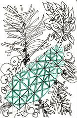 06-25-2011b (Blind Squirrel Photo Safari) Tags: art tile drawing hobby doodle tangle zentangle