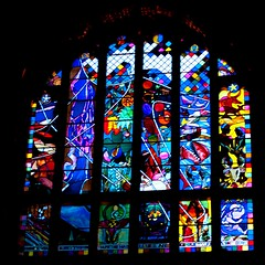 The Creation Window at Dusk (cathedralchoir) Tags: choirball2011
