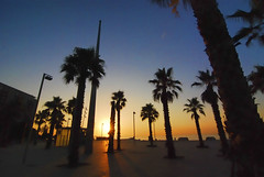 Barceloneta. Barcelona.- (ancama_99(toni)) Tags: pictures barcelona city blue light sunset sky espaa paisajes naturaleza sun color beach nature water night sunrise landscape geotagged photography dawn photo spain nikon espanha europa europe cityscape foto photos picture cityscapes sunsets playa photographic catalonia tokina ciudades amanecer cielo fotos barceloneta nocturna catalunya atardeceres sunrises fotografia paysage nocturnas espagne paesaggi barcellona catalua catalan spanien spagna paisagens pasoscatalans citys  fotografas d60 catalogne 2011 amaneceres 10favs 10faves nikond60   holidaysvacanzeurlaub 1116mm ancama99