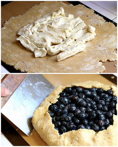 Gluten-Free Blueberry Galette with Brie | galette recipes | gluten free dessert recipes | blueberry recipes | brie recipes | perrysplate.com