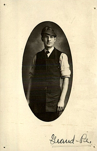 Antique Portrait Apron Man