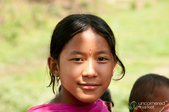 Garo Girl with Bindi - Srimongal, Bangladesh (uncorneredmarket) Tags: people girl kids children bangladesh villagevisit indigenous bindi srimongal garo garovillage garovillagevisit