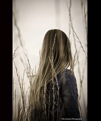 The girl with the flaxen hair (Ulla Jensen Photography) Tags: sunset summer nature girl field evening mood straw blond blonde nikond7000