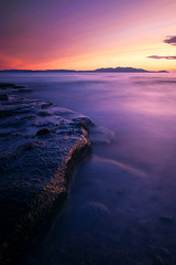Arran view (Spencer Bowman) Tags: longexposure pink light sunset seascape coast scotland dusk lilac troon ayrshire nd110 km1735 minolta1735 bwnd110 sonya850 summertimeuk