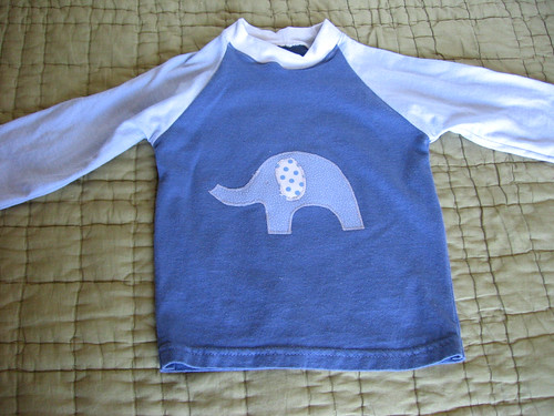 long sleeve elephant raglan tee