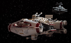 Tantive IV (Blockaderunner) Tags: new hope star ship lego space imperial wars plans deathstar cr90 tatooine stardestroyer 8099 10198 blockaderunner tantive