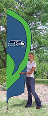 Seattle Seahawks Tall Feather Flag