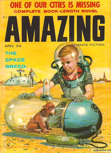 1958 ... puppies in space! by x-ray delta one