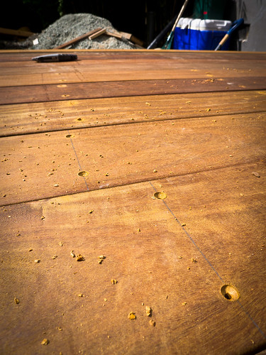 Day 10: Pre-drill holes with countersink bit