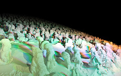 Snow Monsters are scarier at night (Marquisde) Tags: trees snow ski green japan night landscape scenery resort nighttime 7d onsen zao snowmonsters  juhyo