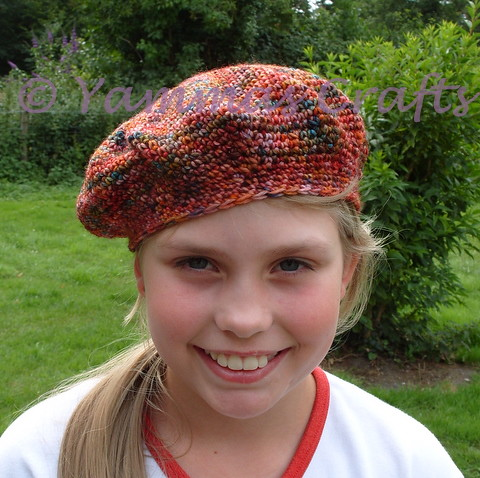 Multi coloured beret merino wool 2 by Yammas Cards and Crafts