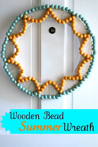 Wooden Bead Summer Wreath