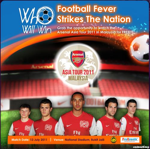 Arsenal Asia Tour vs Malaysia Harimau @ Bukit Jalil