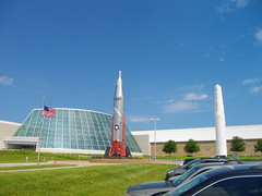 Outside the Strategic Air and Space Museum