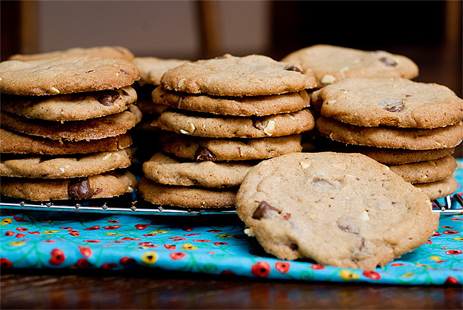 Almond Butter Choc Chunk Cookies