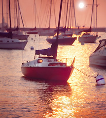 Blister in the Sun (pixelmama) Tags: summer lake chicago water sailboat sunrise harbor illinois lakemichigan buoy violentfemmes hothothot hsm blisterinthesun chasinglight soundtrackmonday